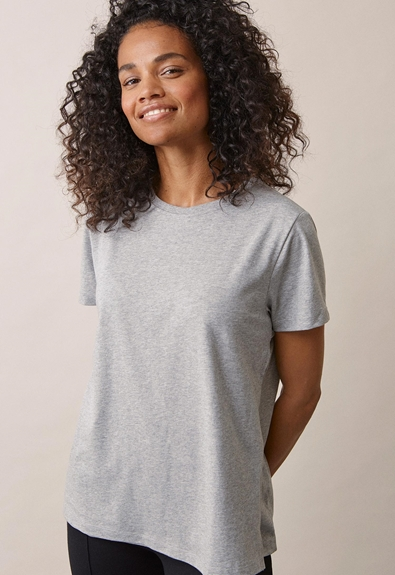 The-shirt - Grey melange - XS (2) - Maternity top / Nursing top