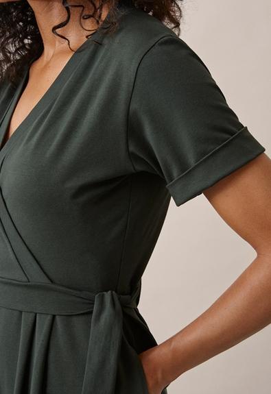 Amelia jumpsuit - Deep green - L (5) - Maternity  / Nursing