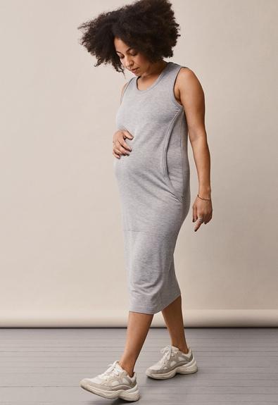 BFF-Kleid - Grey melange - S (1) - Umstandskleid / Stillkleid