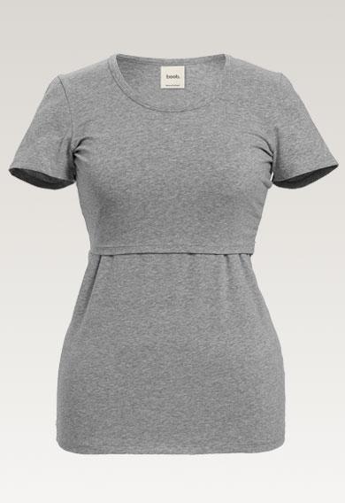 Classic T-Shirt - Grey melange - XS (5) - Umstandsshirt / Stillshirt