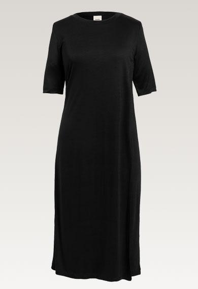The-shirt dressblack (5) - Gravidklänning / Amningsklänning