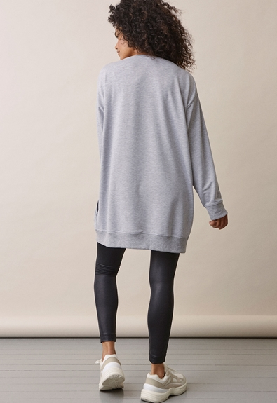 BFF sweatshirt - Grey melange - M (3) - Maternity top / Nursing top