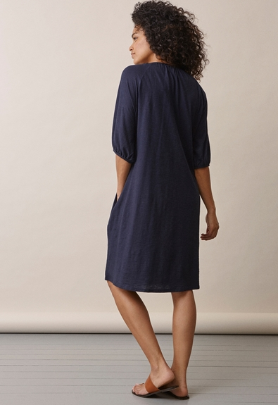 Air short-sleeved dress - Midnight blue - L (3) - Maternity dress / Nursing dress