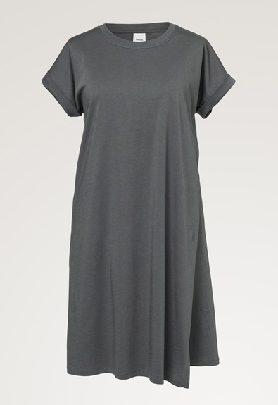 The-shirt Kleid - Willow green - L (6) - Umstandskleid / Stillkleid