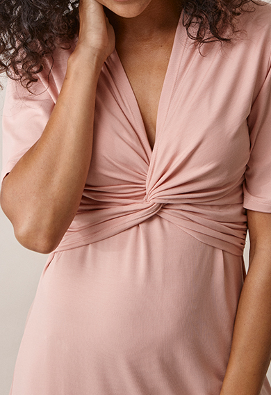 La La dressmisty rose (4) - Maternity dress / Nursing dress