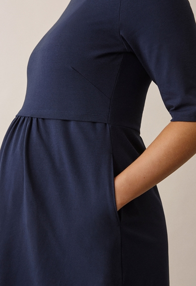 Linnea Kleid - Midnight blue - S (4) - Umstandskleid / Stillkleid