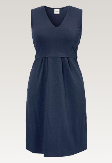 Tilda dressthunder blue (5) - Umstandskleid / Stillkleid