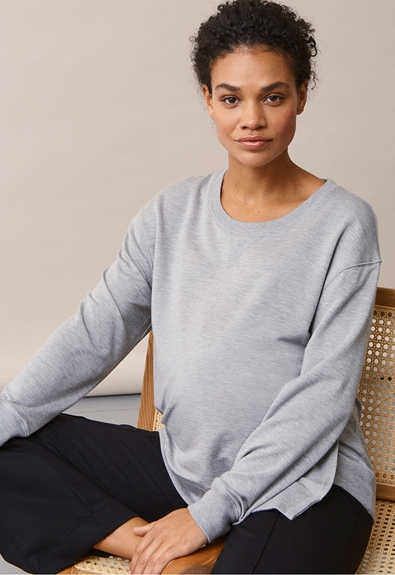 The sweatshirt - Grey melange - L (1) - Umstandsshirt / Stillshirt