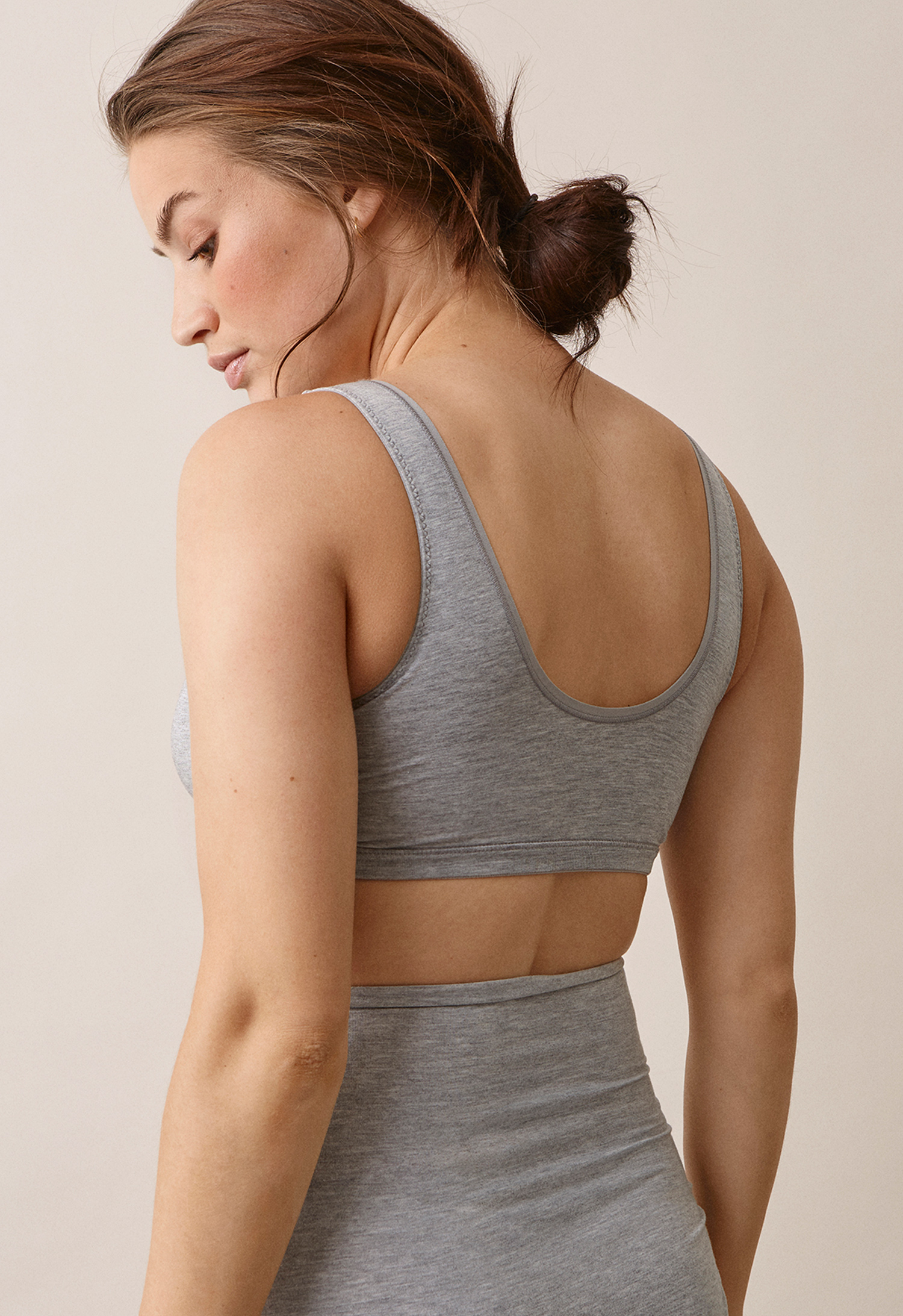 24/7 bragrey melange (2) - Maternity underwear / Nursing underwear