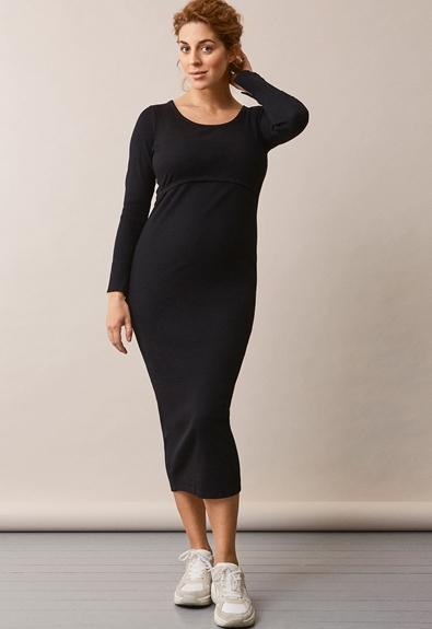 Signe Kleid - Schwarz - M (1) - Umstandskleid / Stillkleid