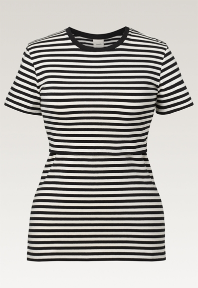 Franka t-shirt - Block black/tofu - XL (7) - Maternity top / Nursing top