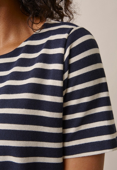 Breton short-sleeve top - Midnight blue/tofu - M (4) - Umstandsshirt / Stillshirt