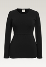 Classic long-sleeved top - Black - L - small (5)