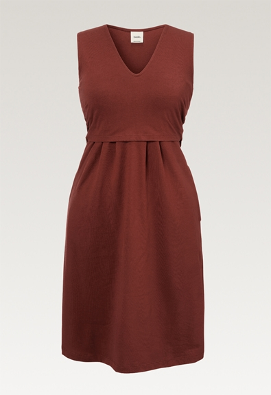 Tilda dress - Cayenne - XL (4) - Maternity dress / Nursing dress