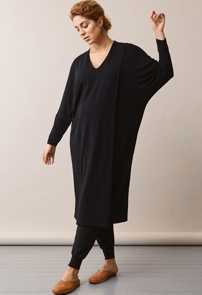 Debbie dress - Black - L/XL (2) - Maternity dress / Nursing dress