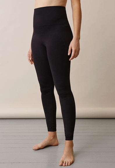 Soft support leggings - Black - S/M (1) - Maternity pants