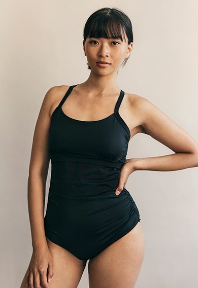 Fast Food swimsuitblack (8) - Maternity Active wear / Nursing Activewear