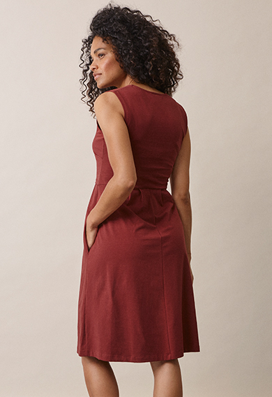Tilda dressport red (2) - Umstandskleid / Stillkleid