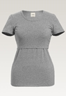 Classic short-sleeved top - Grey melange - XL - small (5)