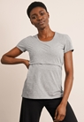 Classic short-sleeved top - Grey melange - XL - small (1)