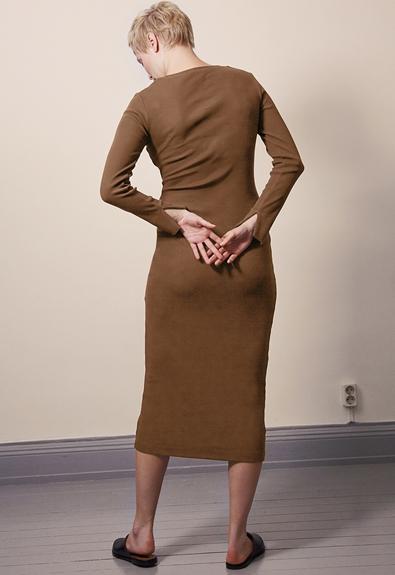 Signe klänning - Hazelnut - L (2) - Gravidklänning / Amningsklänning