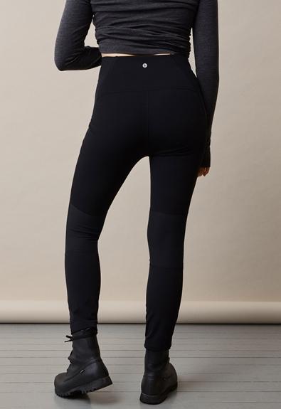 Once-on-never-off fleeceleggings - Black - S (2) - Maternity pants