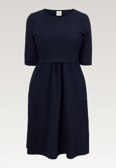 Linnea dressmidnight blue (6) - Maternity dress / Nursing dress