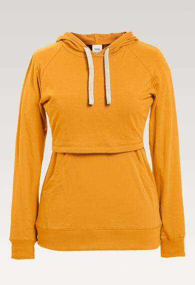B Warmer hoodiesunflower (4) - Maternity top / Nursing top
