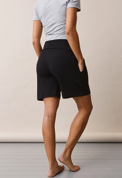 Once-on-never-off shorts - Svart - S (5) - Gravidbyxor