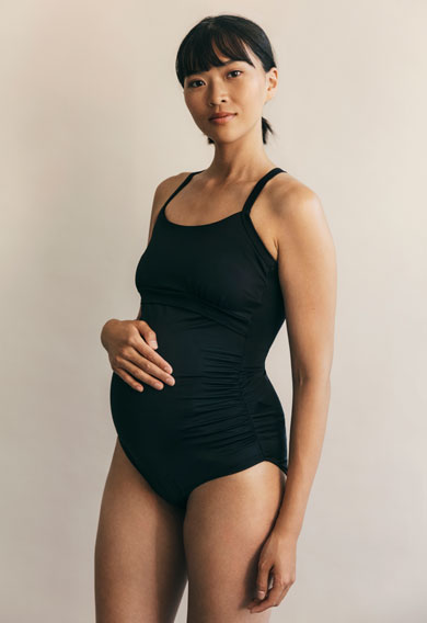 Fast Food swimsuitblack (2) - Maternity Active wear / Nursing Activewear