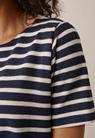 Breton short-sleeve top - Midnight blue/tofu - M - small (4)