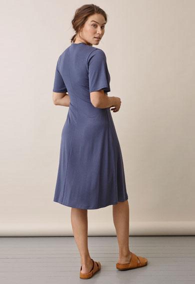 La La dressthunder blue (4) - Maternity dress / Nursing dress