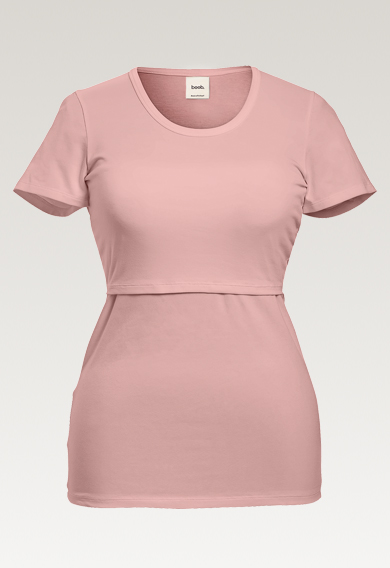 Classic short-sleeved top - Mauve - XS (5) - Maternity top / Nursing top