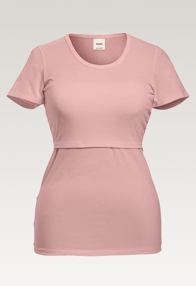 Classic s/s topmauve (6) - Maternity top / Nursing top
