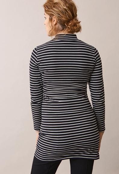 Simone tunika - Stripe black/tofu - S (3) - Gravidklänning / Amningsklänning