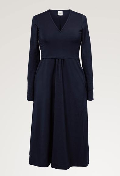 Charlotte dress - Midnight blue - M (4) - Maternity dress / Nursing dress
