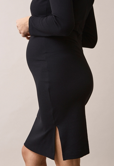 Ines dress - Black - XL (4) - Maternity dress / Nursing dress