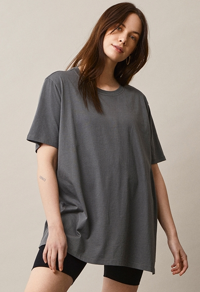 Oversized The-shirt - Willow green - M/L (1) - Maternity top / Nursing top