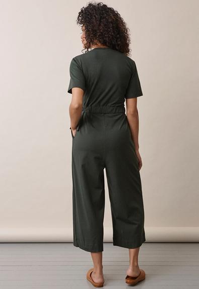 Amelia jumpsuit - Deep green - L (3) - Maternity  / Nursing