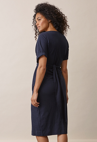 Zadie s/s dressmidnight blue (4) - Maternity dress / Nursing dress