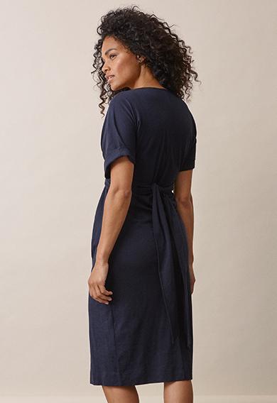 Zadie s/s dressmidnight blue (4) - Gravidklänning / Amningsklänning