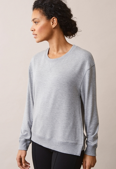 The sweatshirt - Grey melange - M (3) - Gravidtopp / Amningstopp