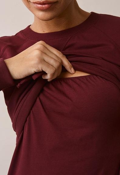 B Warmer Kleid - Burgundy - L (4) - Umstandskleid / Stillkleid