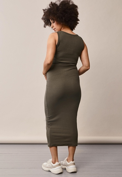Signe sleeveless dress - Pine green - S (3) - Maternity dress / Nursing dress