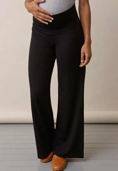 Once-on-never-off wide pants, Svart M (3) - Gravidbyxor