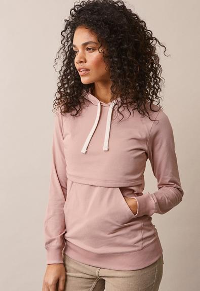 B Warmer hoodie - Mauve - S (2) - Maternity top / Nursing top