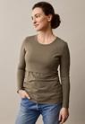 Classic long-sleeved top - Green khaki - L - small (1)