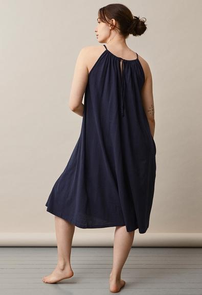 Air halterneck midiklänning - Midnight blue - One size (3) - Gravidklänning / Amningsklänning