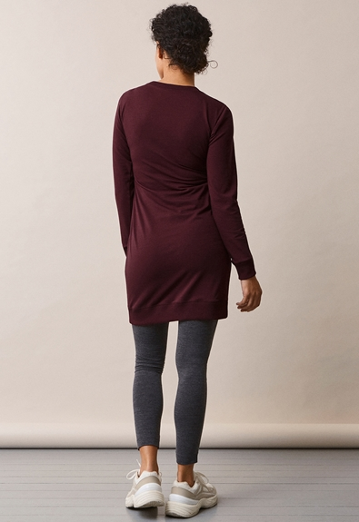 B.Warmer klänning - Eggplant - M (2) - Gravidklänning / Amningsklänning