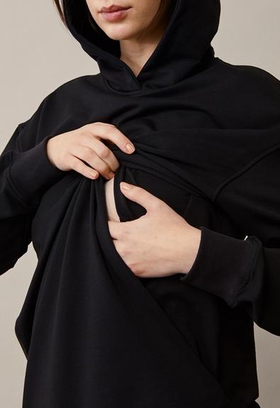 BFF hoodie - Black - M (5) - Maternity top / Nursing top